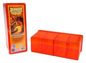 DRAGON SHIELD FOUR COMPATMENT BOX ORANGE