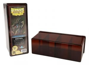 DRAGON SHIELD FOUR COMPATMENT BOX BROWN