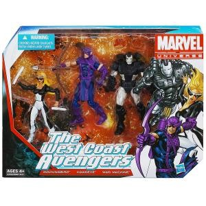 Hasbro Marvel Universe The West Coast Avengers Figure 3-Pack 4 Inches