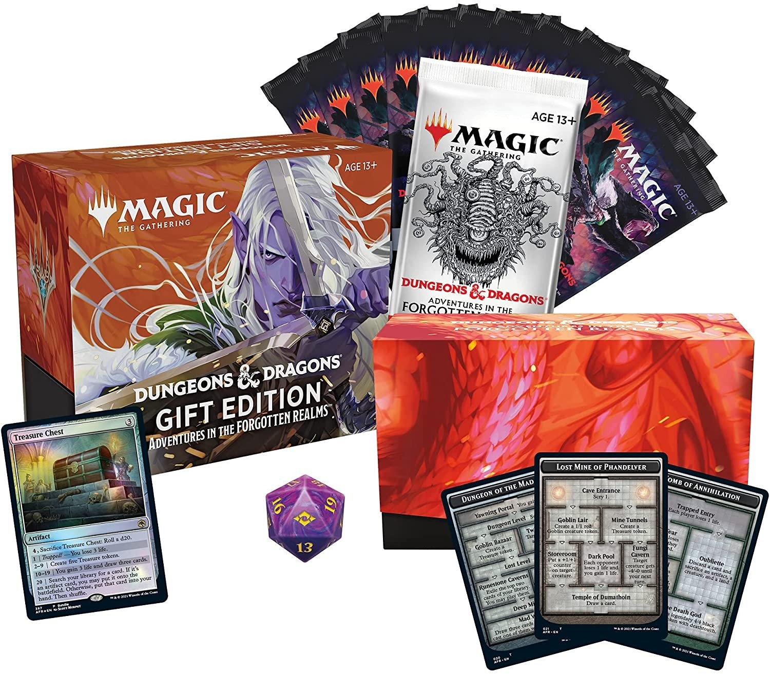BUNDLE GIFT EDITION - DUNGEONS AND DRAGONS: ADVENTURES IN THE FORGOTTEN REALMS