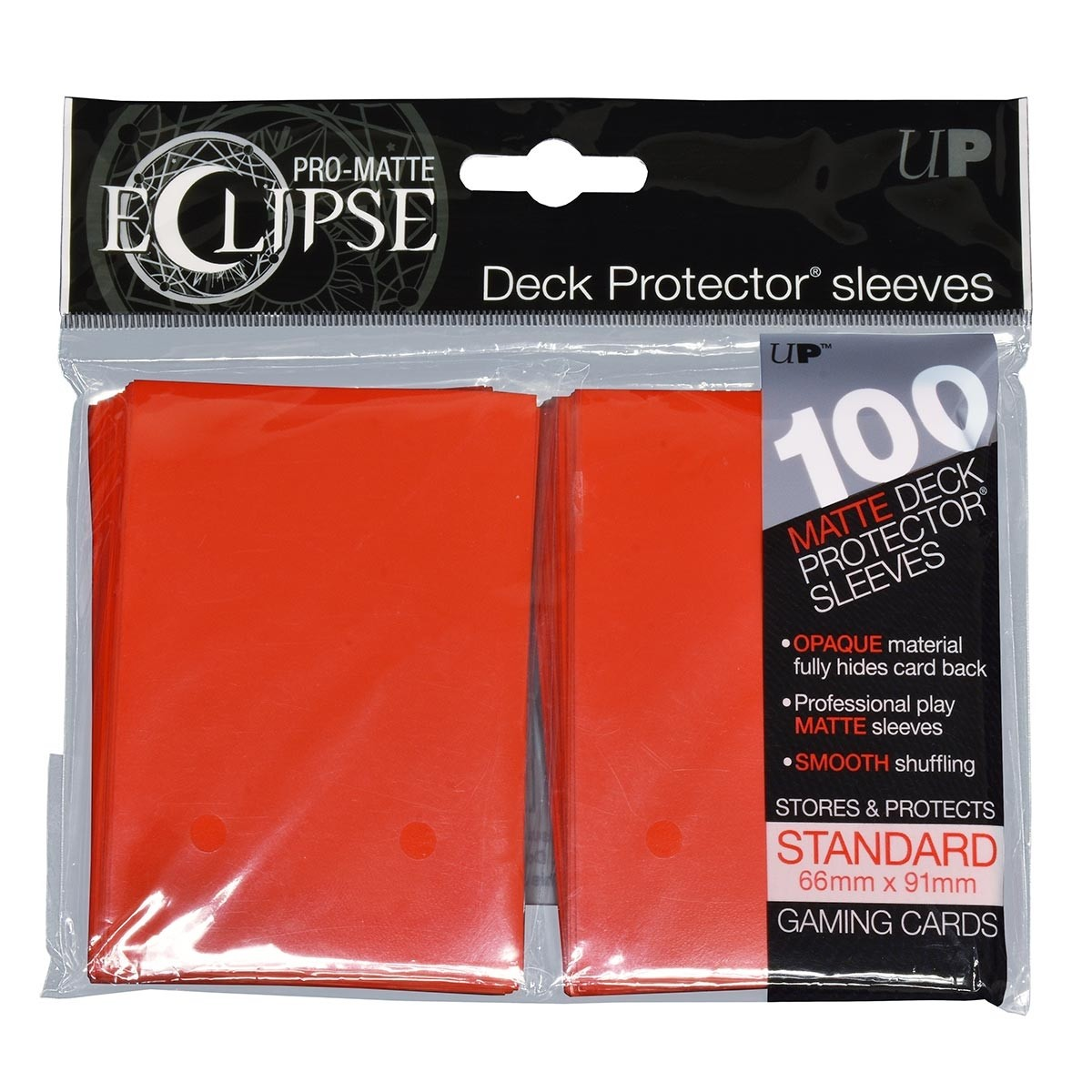 PRO-Matte Eclipse Apple Red Standard Deck Protector sleeve 100ct
