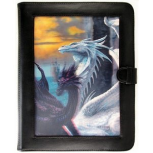 Ultra-Pro - Pasta Ciruelo Dragons Lenticular Window (9 bolsos x 10 páginas)