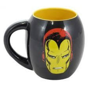CANECA PORCELANA OVAL MARVEL IRON MAN 530ML