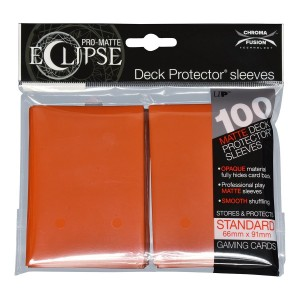 PRO-Matte Eclipse Pumpkin Orange Standard Deck Protector sleeve 100ct
