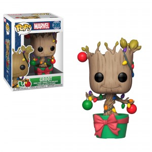 Funko - POP! MARVEL 399: Groot (Holiday)