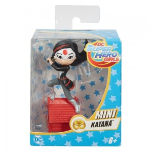 Mini Boneca Colecionável - 9cm - DC Super Hero Girls - Katana - Mattel